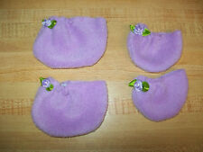 """11-20"""" CPK Cabbage Patch Kids LAVENDER FLEECE BOOTIES ROSES-CHOICE S OR L+ COLOR"""