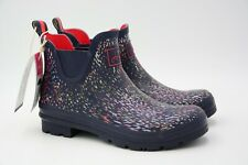 Joules Women's Wellibob Rain Boot Navy Rain Size US 10 EU 42 Used