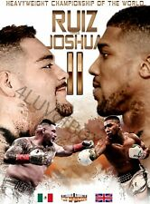 Andy Ruiz vs Anthony Joshua II rematch 4LUVofBOXING new Poster Boxing wall art