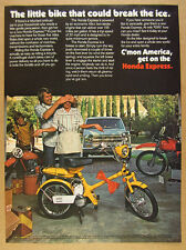 1977 Honda NC50 Express Scooter garage motorcycles photo vintage print Ad