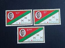 Congo, Katanga, 1961, Tshombe, Set of 3 stamps, MNH