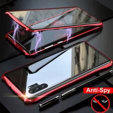 Vidrio Templado Anti-espías Magnético teléfono caso cubierta para Samsung S9 más 8 Note