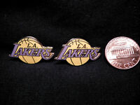 LOS ANGELES LAKERS ~ 2 VINTAGE PINS BY PINNACLE DESIGNS.