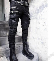 Punk Mens Chic Gothic Hair Stylist Hip Hop Pants Long Casual Nightclub Trousers