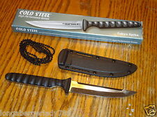 COLD STEEL HIGH PERFORMANCE KNIVES KNIFE BLADES THE TOKYO SPIKE AND SHEATH CHAIN