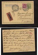 Czechoslovakia  express uprated postal card 1936           H1214-11