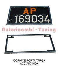 CORNICE INOX TARGA POSTERIORE AUTO EPOCA PROVINCIA ARANCIONE DAL 1976 AL 1985