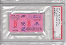 4/8/74 Hank Aaron 715th Home Run Ticket - New HR King - PSA 7 (NM