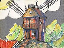 Germain DELATOUSCHE(1898-1966)Tre acquerelli Moulin de la lastra PARIGI FRANCESE