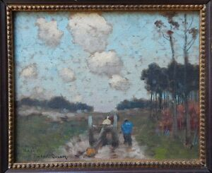"Frank Russell Green ""Figures Along a Country Road"" c1925"