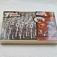 Star Wars Episode VII Wood Puzzle 7 Pack with Storage Box Force Awakens-SEALED