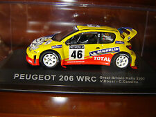 PEUGEOT 206 WRC GREAT BRITAIN RALLY 2002  ROSSI-CASSINA  IXO 1/43