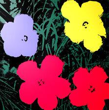 ANDY WARHOL Pop Art - Sunday B Morning - Flowers 11.73 - Screen print + COA