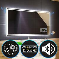 BADSPIEGEL LED Beleuchtung · SENSOR · Wetterstation oder Uhr · BT Audio L57