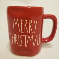 Rae Dunn Red MERRY CHRISTMAS LL Large Letter Farmhouse Holiday Mug by Magenta