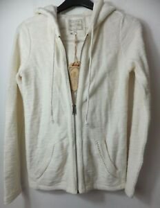 New Woman's FatFace Nat Ivory Hemsby Knit Hoodie Size UK 6 RRP £49.50