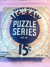 Vintage Every Week Jig-Saw Puzzle Series #18 The American Co. Washington Farewel