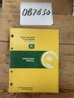 John Deere F915 & F935 Front Mower Owner Operator Manual User Guide OMM79596 NOS