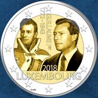 Luxemburg - 175. Todestag von Großherzog Guillaume - 2 Euro 2018 unc.