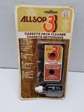 VINTAGE ALLSOP 3 AUDIO CASSETTE DECK CLEANER KIT - SEALED IN BLISTER PACK