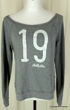 Hollister California 19 Gray & White Sequins Stretch Knit Top Size M
