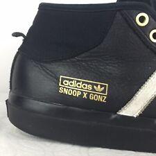 Adidas Snoop x Gonz LA Stories Matchcourt Mid Black Rare Snoop Dog Shoes Sz 8