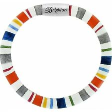 NWT Brighton WOODSTOCK NAPA STRIPE Single Leather Bracelet  S/M  MSRP $40