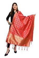 Women Jacquard Woven Banarasi Silk Dupatta Tippet Scarf Traditional Wear