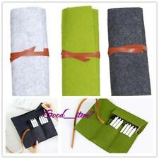 Portable Pencil Pen Case Roll Cosmetic Pouch Pocket Brush Holder Makeup Bag G
