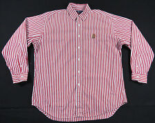 VTG 90S RALPH LAUREN COOKIE CREST STRIPED L/S SHIRT 92 93 UNI BEAR PWING POLO L