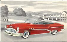 1953 ? Buick Super Convertible Model 56C Automobile Advertising Postcard
