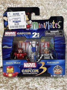 2011 Minimates MARVEL vs CAPCOM 2 PACK IRON MAN & ARTHUR fate of two worlds