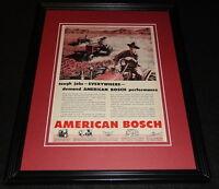 1951 American Bosch Framed 11x14 ORIGINAL Vintage Advertisement