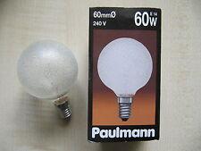 RAREZA Paulmann Globe E14 60W G60 240V CRISTAL DE HIELO Globelampe CLARO