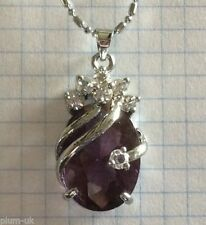 Crystal Oval Amethyst Costume Necklaces & Pendants
