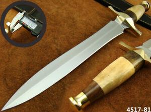 "SUPERB HANDMADE 15"" STAINLESS STEEL DAGGER HUNTING KNIFE W/SHEATH NEW (4517-81"