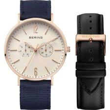 Relojes de pulsera de oro rosa de día y fecha