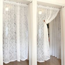 Lace Embroidery Curtain Panel Voile Tulle Pelmets Window Drape Divider Country