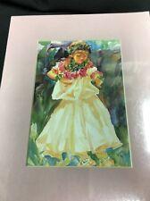 "Deborah Robinson, Watercolor ,Girl With Flowers's Beautiful 5""x7"""