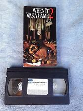 When It Was A Game 2 (1992) - VHS Video Tape - Baseball Documentary - HBO Video
