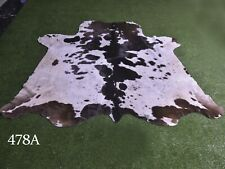 """New Cowhide Rugs Hair On COW HIDE Rugs Area Cow Skin Leather Rugs (71"""" x 60"""")"""