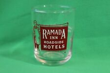 Ramada Inn Roadside Hotels Bugler AZ CA IL WY NM TX OK Vintage Clear Red Glass
