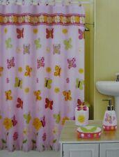 16 pc  Panache Butterfly Shower Curtain, Hooks, & Bath Accessories Set NIP