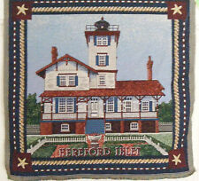 NEW JERSEY~HEREFORD INLET LIGHTHOUSE TAPESTRY hanging/pillow/or frame 16X16""