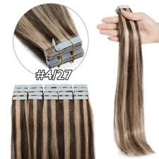 30-120Gr Tape In Brazilian 100% Remy Human Hair Extensions Skin Weft Seamless XL