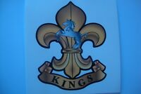 THE KINGS REGIMENT  STICKERS   X 2   BRITISH ARMY MILITARY REGIMENT STICKERS