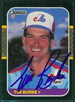 Original Autograph of Tim Burke of the Montreal Expos on a 1987 Donruss Card