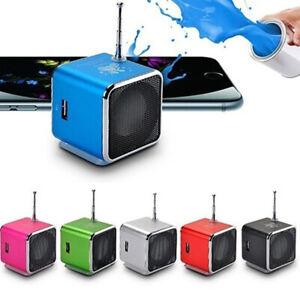 Subwoofer Mini Music Player Speaker Led MP3 FM Stereo Portable Radio USB SD TF