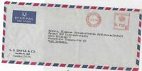 india 1964 large commercial airmail stamps cover  ref 10173
