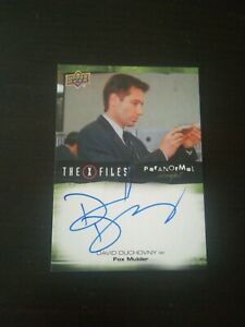 X Files Trading Card A-du Signed By David duchovny Upper Deck Autograph